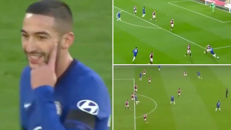 Hakim Ziyech's Highlights On His First Premier League Start Are Wonderful