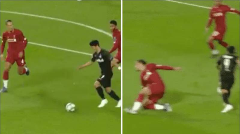 Virgil Van Dijk Gets Turned Inside Out By Salzburg Forward Hwang Hee-Chan
