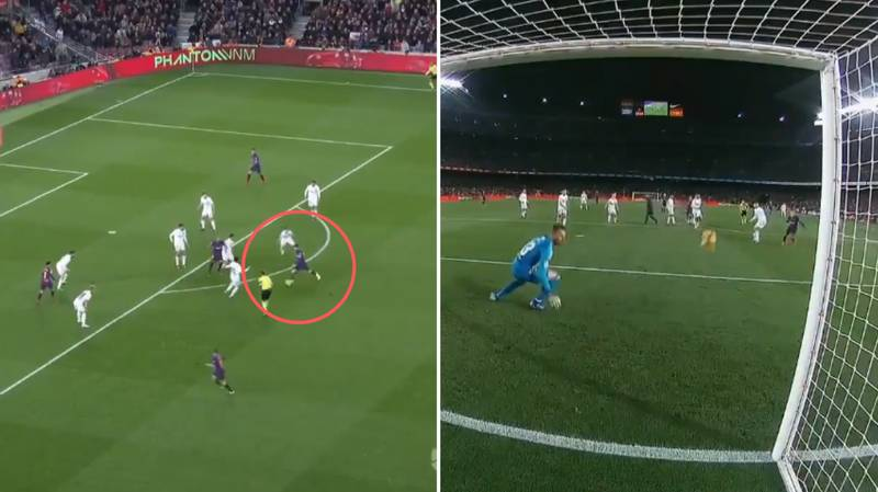 Lionel Messi's 20-Yard Curling Strike Literally Came Out Of Nowhere