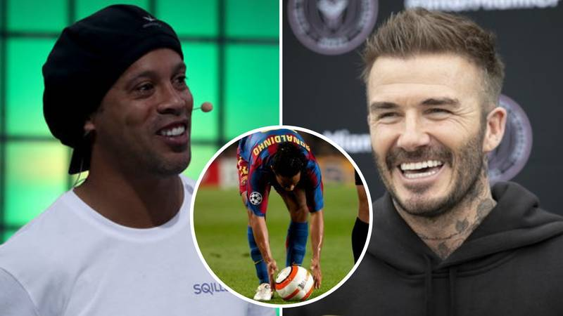 David Beckham And Ronaldinho's Free-Kick Secrets Were 'Stolen' By Football Legend