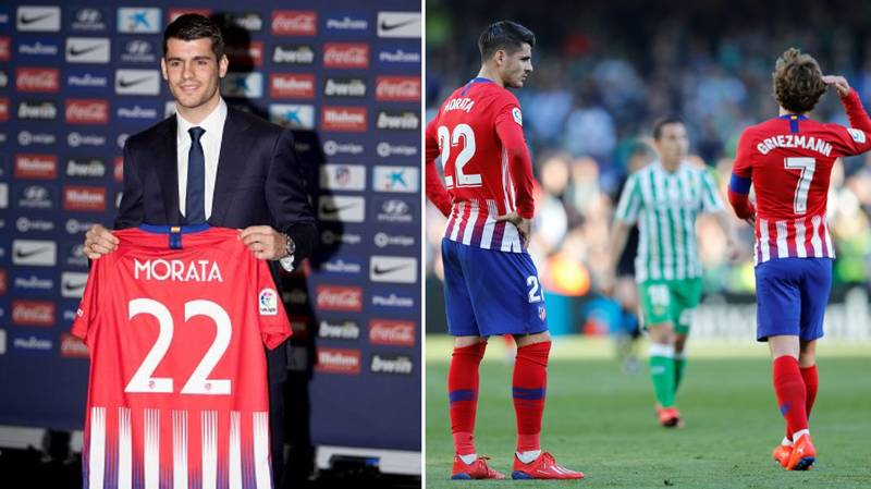 Alvaro Morata Makes His Atletico Madrid Debut, They Lose Their First Match In 19 Games