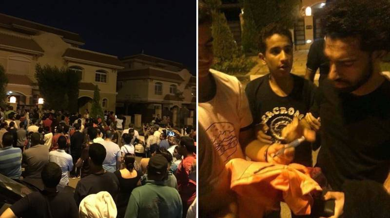 Fans Gather Outside Mo Salah's House In Egypt, He Comes Out And Sign Autographs