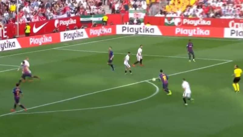 Lionel Messi Scores A Weak Foot Worldie Against Sevilla