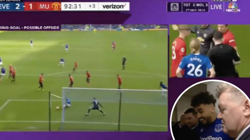 Dominic Calvert-Lewin Watches His Disallowed Goal Back In The Tunnel After VAR Controversy