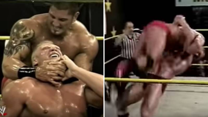 When Brock Lesnar Clashed With Batista In Their Ohio Valley Wrestling Match