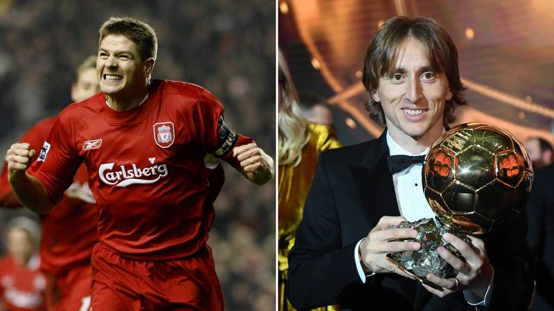 Football Fans Are Debating Who Is Better Out Of Steven Gerrard And Luka Modric