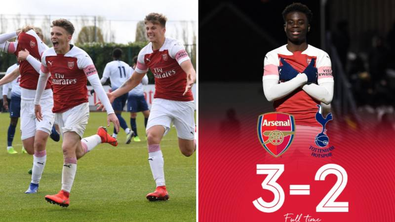 Arsenal Under 18's Come From 2-0 Down To Beat Spurs 3-2 In North London Mini Derby