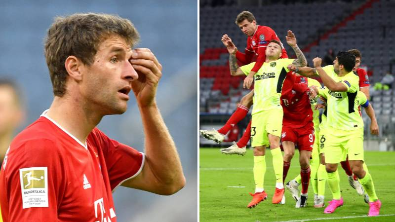 """Thomas Muller Heard Telling Referee That Atletico Madrid Are """"The Biggest Bullies In World Football"""""""