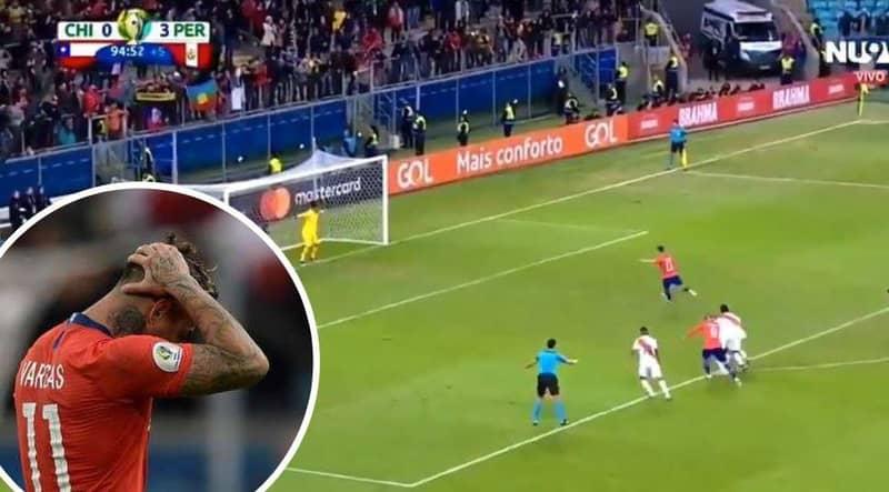 Chile's Eduardo Vargas Embarrassingly Failed An Injury Time Panenka Penalty In 3-0 Defeat To Peru