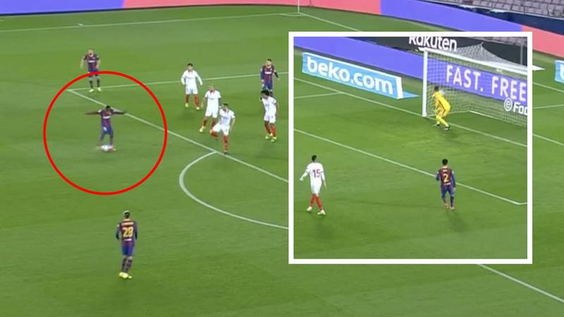 Ousmane Dembele Has Just Scored An Absolute Rocket For Barcelona Vs Sevilla