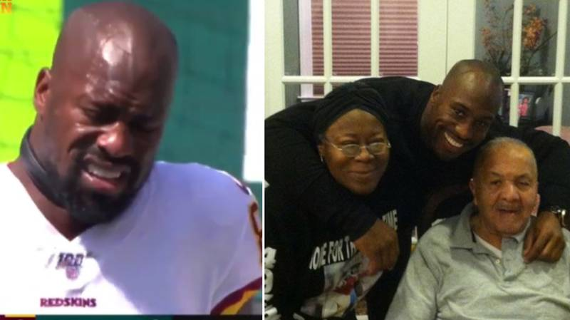 Vernon Davis Scores Touchdown And Breaks Down In Tears After His Grandad Passed Away