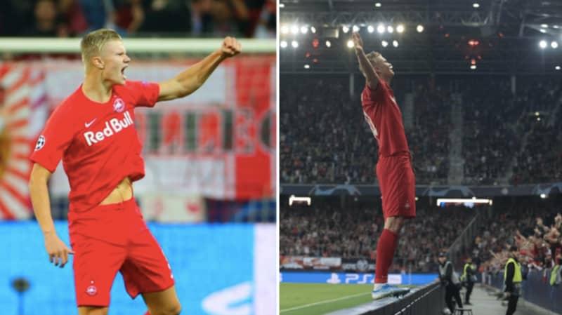 Erling Braut Haland Scores First Half Hat-Trick On Champions League Debut