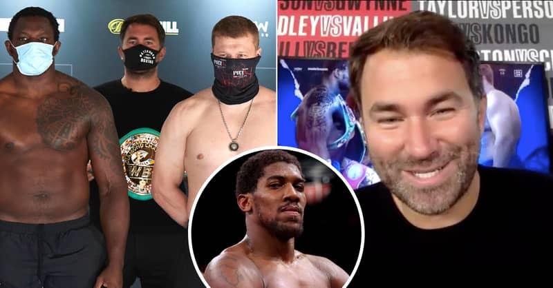 Eddie Hearn: Mike Tyson Vs Roy Jones Won't Happen, But AJ Vs Tyson Fury Will