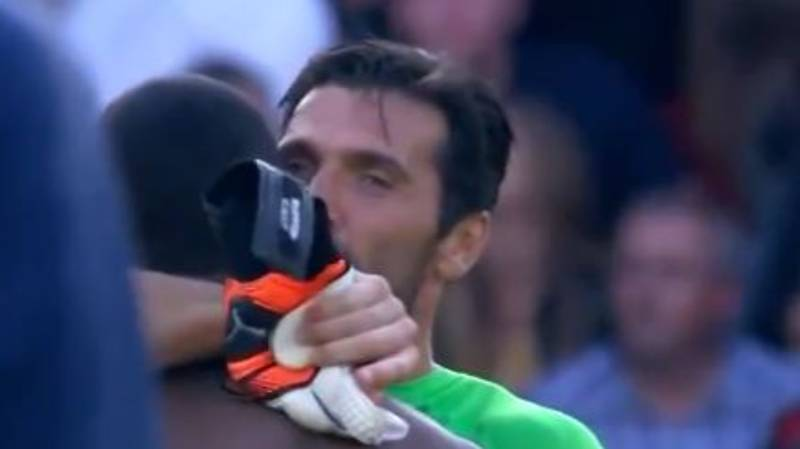 Gianluigi Buffon Lilian Thuram's Son Share Moment After Competing In A Game Together