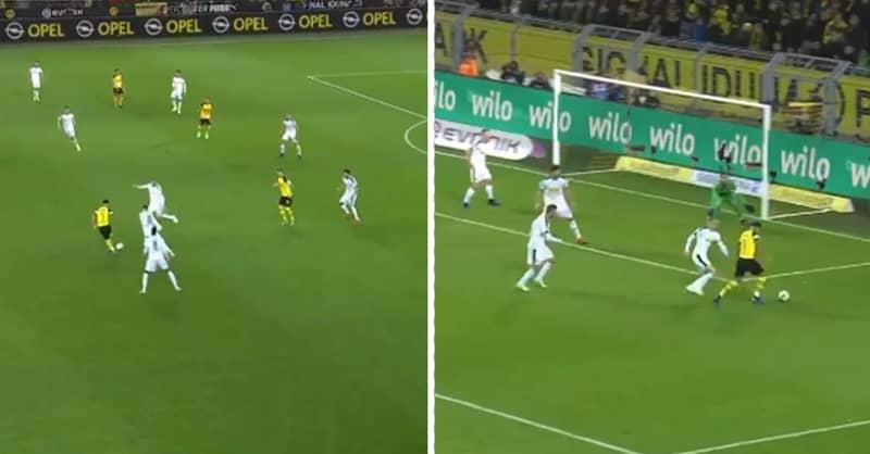 Jadon Sancho Scores Brilliant Opening Goal For Borussia Dortmund Against Borussia Mönchengladbach