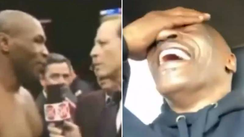 """Mike Tyson Finally Explains Legendary """"I Broke My Back, Spinal!"""" Comment And Can't Hold Back His Laughter"""
