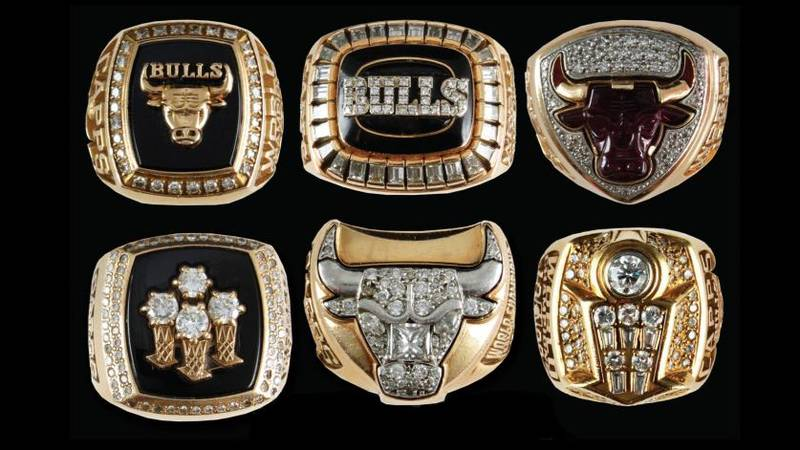 All Six Chicago Bulls NBA Championship Rings Are Set To Be Auctioned Off