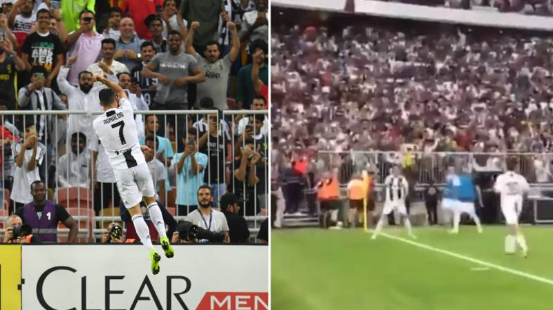 """61,000 Fans Shout """"SIIIII"""" When Cristiano Ronaldo Celebrates In Spine-Tingling Moment"""