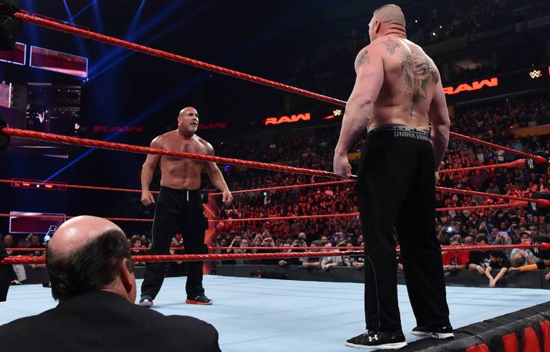 WATCH: Goldberg And Brock Lesnar Come Face To Face Before Survivor Series Bout