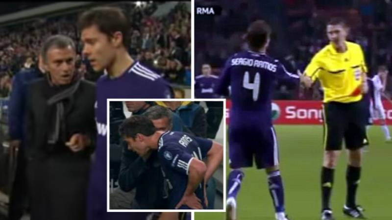 When Jose Mourinho Instructed Xabi Alonso And Sergio Ramos To Get Sent Off Deliberately
