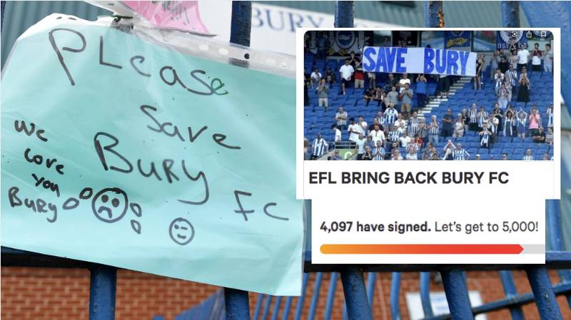Thousands Sign Petition To Help Bury FC Return To Football League