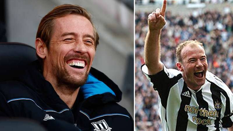 Peter Crouch Writes Hilarious Message About Alan Shearer's Goal Record