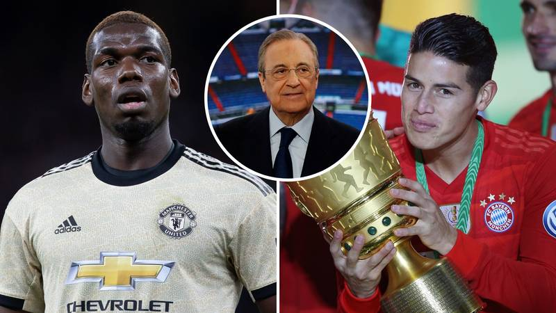 Manchester United Rejected Real Madrid's '£27.4m Plus James Rodriguez Offer' For Paul Pogba