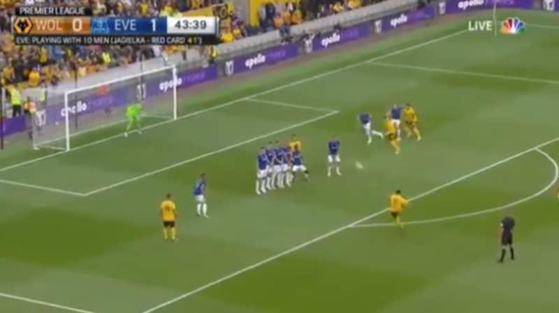 Ruben Neves Scores Stunning Free-Kick For Wolves