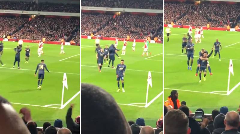 Fan Captures Jesse Lingard's Whole Celebration Vs. Arsenal