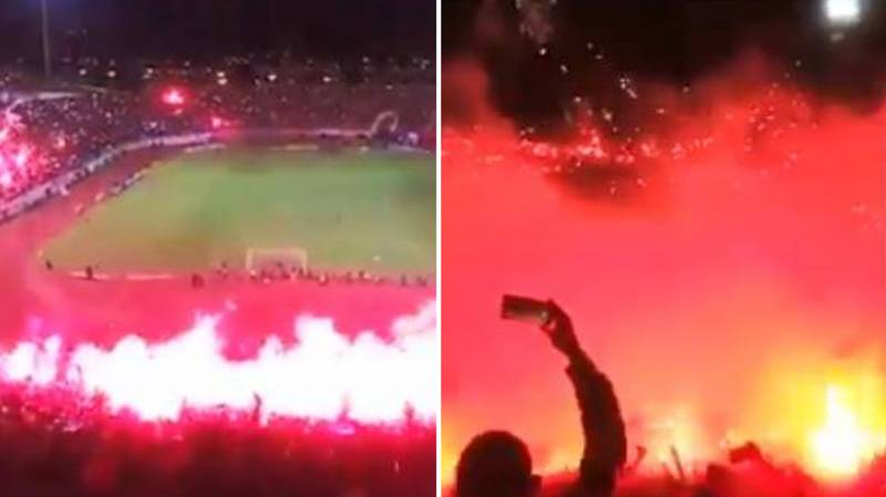 Incredible Scenes As Algerian Side USM Annaba Gain Promotion