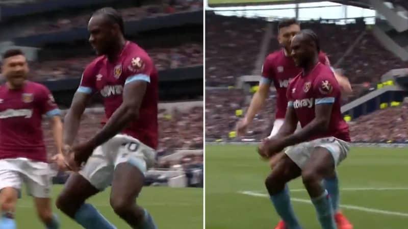 Michail Antonio Produces Bizarre Celebration As West Ham Beat Spurs