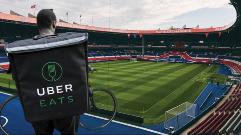 The Match Ball Will Be Delivered By Uber Eats Driver Prior To Ligue One Games