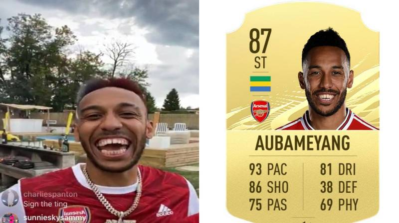 Pierre-Emerick Aubameyang Reacts To Being Downgraded For FIFA 21