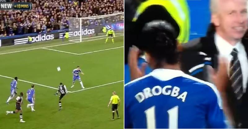 Didier Drogba's Amazing Reaction To Papiss Cisse Wonder Goal Against Chelsea