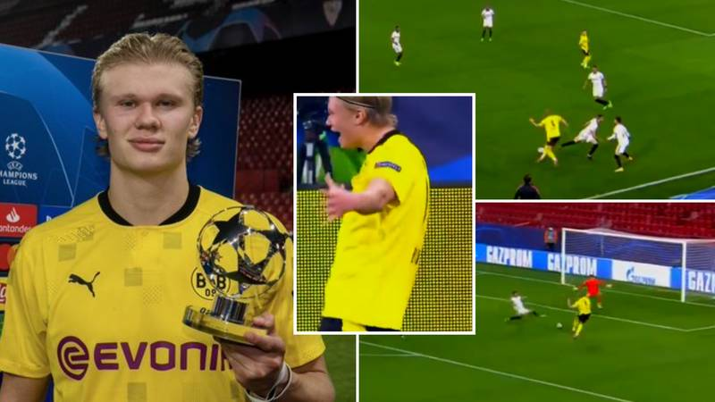 Erling Haaland's Sensational Highlights Vs Sevilla Show He's On The Same Level As Mbappe