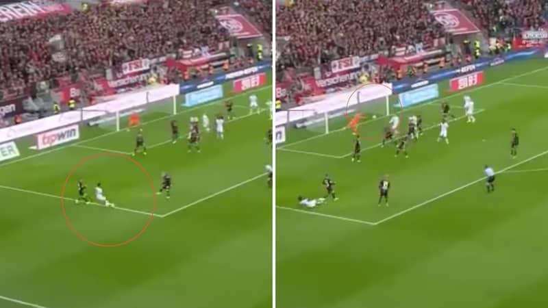 Reiss Nelson Curls In An Outrageous Goal Against Bayer 04 Leverkusen