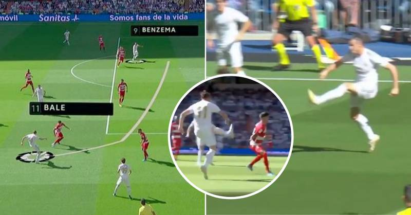 Gareth Bale Pulled Off An Incredible 'Banana Assist' For Karim Benzema To Score Real Madrid's Opener