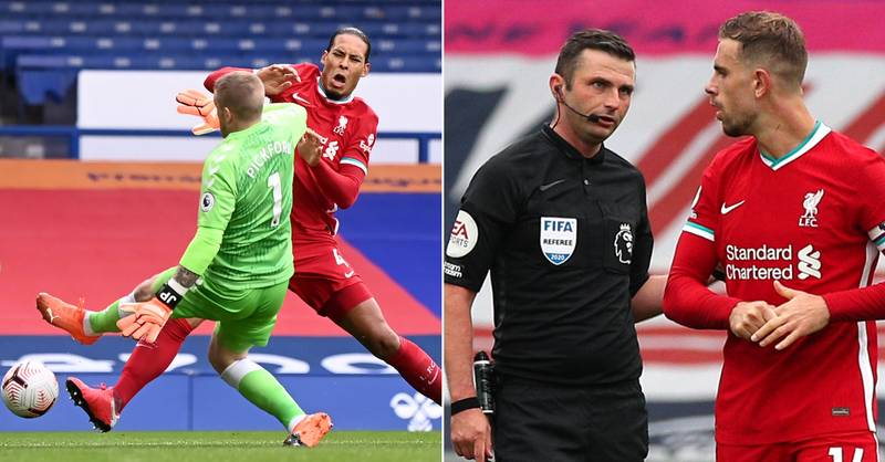 Michael Oliver Finally Explains Why Jordan Pickford Wasn't Sent Off For Virgil Van Dijk Challenge