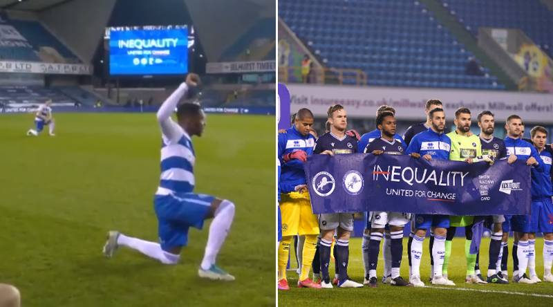 Millwall Fans Respond To Booing Backlash By Applauding Players Taking The Knee Ahead Of QPR Match