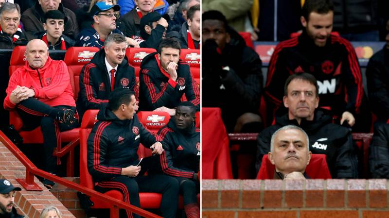 Man United Fan Has An Interesting Theory For Solskjær Sitting In Different Seat To Mourinho