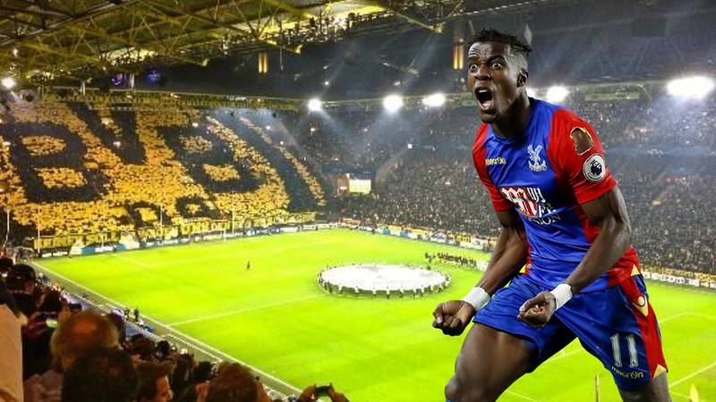 Borussia Dortmund In For Crystal Palace Winger Wilfried Zaha