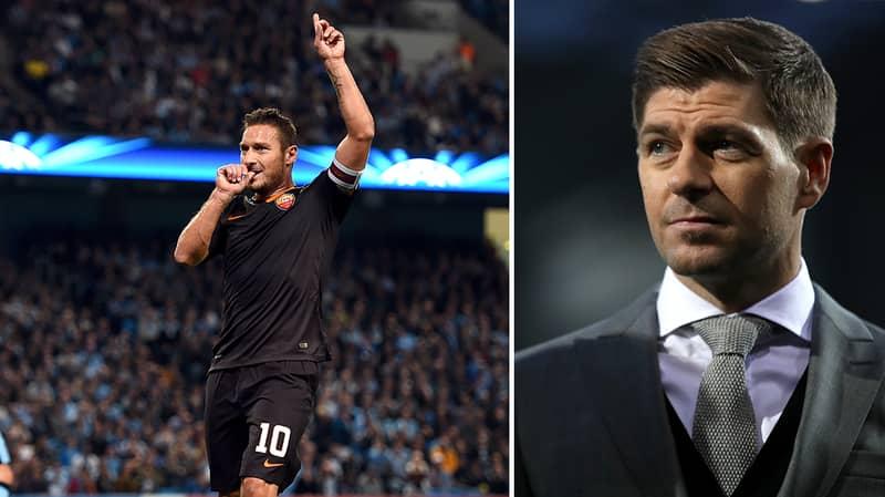 Steven Gerrard Posts Brilliant Message To Francesco Totti Ahead Of Final Game