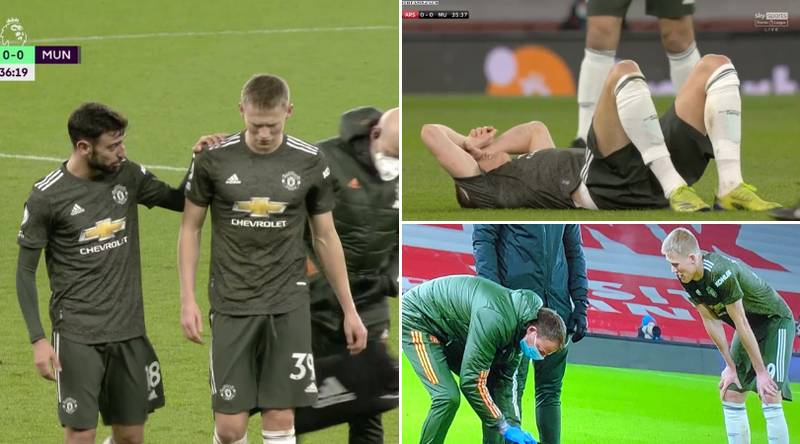 Man United Fans Think Scott McTominay Was Subbed Off 'Due To A Bad Stomach' During Arsenal Match