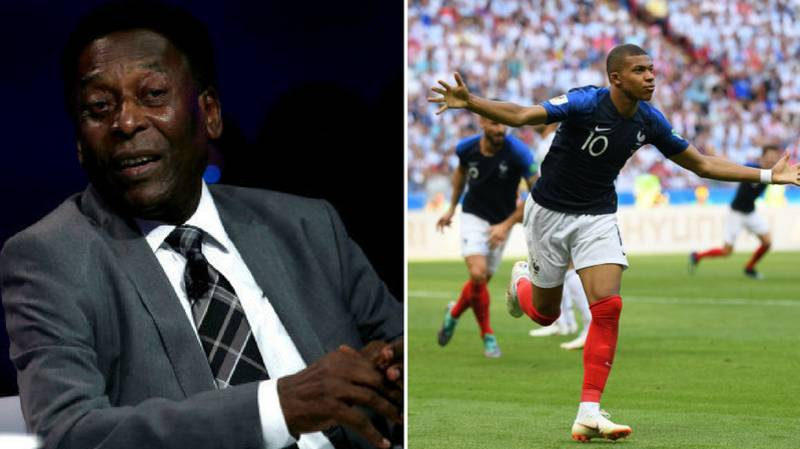 Pele Tweets Kylian Mbappe After He Equals His World Cup Record