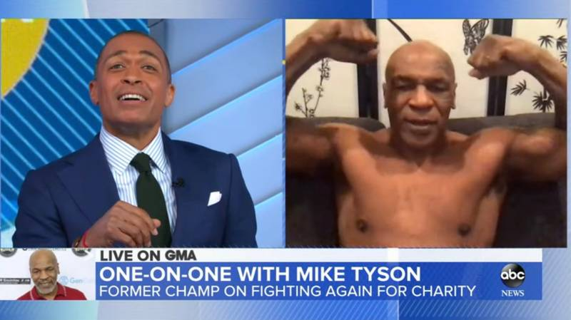 Mike Tyson Strips Off On Live TV To Flaunt Impressive Body Transformation