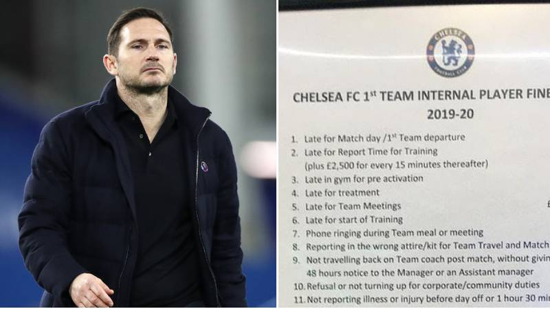 Chelsea's Fine List Under Frank Lampard Is Extremely Expensive