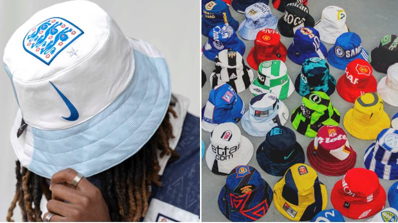 These Retro Football Kit Bucket Hats Are The Must-Have Summer Accessory