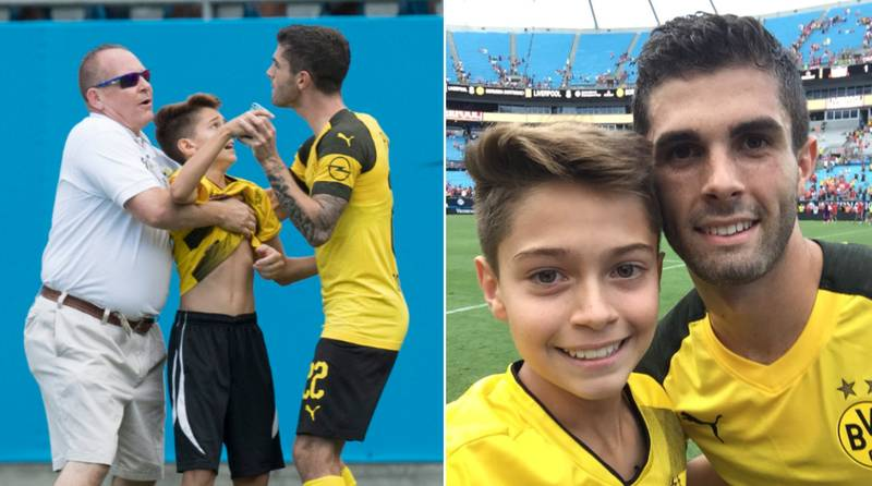 Christian Pulisic Stops Post-Match Interview After Noticing Kid Being Dragged Away From Security