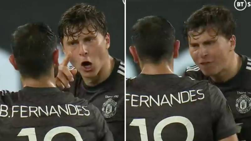 Victor Lindelof Appears To Launch X-Rated Expletive At Bruno Fernandes During Man United's 2-1 Defeat