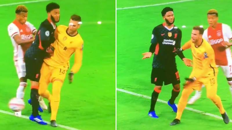 Joe Gomez's Reaction To Being Tackled By Adrian Sums Up Every Liverpool Fans' Feelings